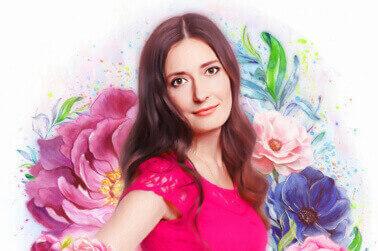 Flower-Art портрет