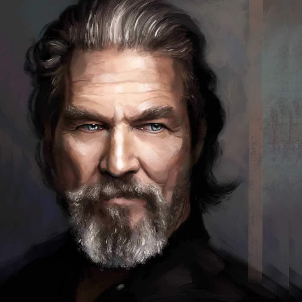 Портрет Джеффа Бриджеса под живопись маслом