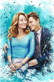 Портрет супружеской пары в стиле Дрим-Арт