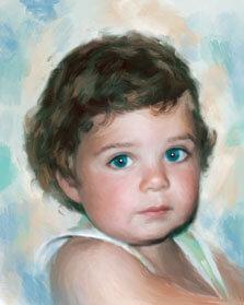 Стилизация по фото мальчика под живопись маслом