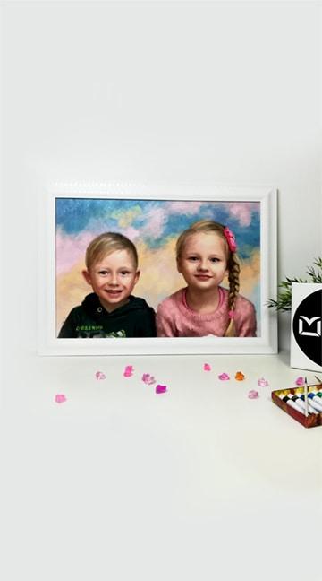 Портрет маслом на холсте