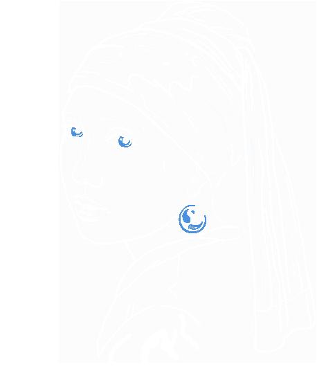 Портрет по картине Девушка с жемчужной сережкой
