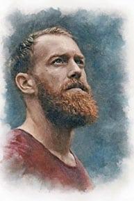 Пример портрета под акварель по фотографии Jacob Owens