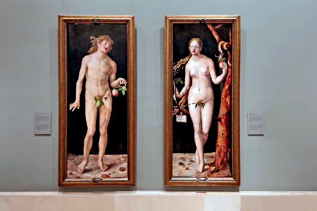 Диптих. Альбрехт Дюрер. Адам и Ева.