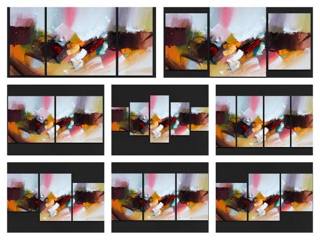 Варианты модульных картин из одного изображения